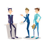 Business Man Manager Set, Businessman Full Length Cartoon Character Stock Photos