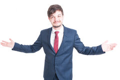 Business man or manager standing and posing confident Royalty Free Stock Photos