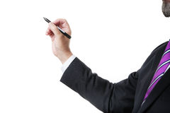 Business man with marker Royalty Free Stock Photo