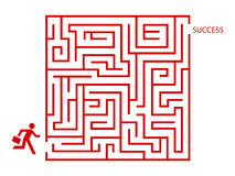 Business man in maze. Concept stock illustration