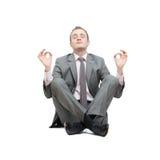 Business man meditating Stock Photography