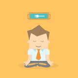 Business man meditating. To recharge and relax Stock Photography