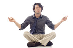 Business Man- Meditation Stock Image