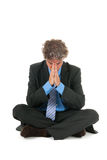 Business man in meditation Royalty Free Stock Image