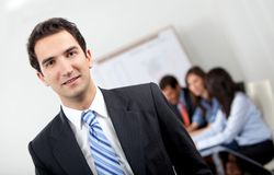 Business man in a meeting Stock Photo