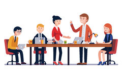 Business man meeting at a big conference desk Stock Images