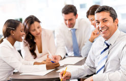 Business man in a meeting Royalty Free Stock Photography