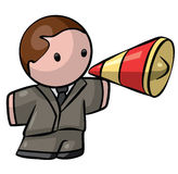 Business Man With Megaphone Stock Photo