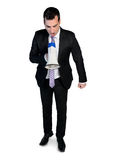 Business man with megaphone Stock Images