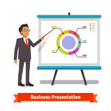 Business man mentor delivering presentation speech Stock Photos
