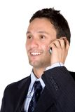 Business man on a mobile Royalty Free Stock Photo
