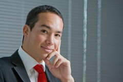 Business man with mobile hand cell phone Royalty Free Stock Photography