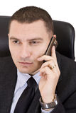 Business man on a mobile phone stock photography