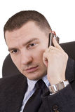 Business man on a mobile phone royalty free stock image
