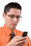 Business man on a mobile phone royalty free stock photography