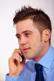 Business man on mobile phone Stock Image