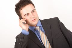 Business man on mobile phone Royalty Free Stock Image