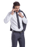 Business man with mobile phone Royalty Free Stock Image