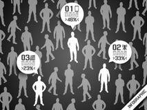 Business man modern infographic blak Stock Photos