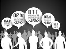 Business man modern infographic blak Royalty Free Stock Photo