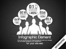 Business man modern infographic blak Stock Image