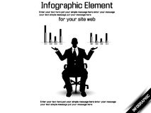 Business man modern infographic Royalty Free Stock Photos