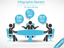 Business man modern infographic blak for web Stock Photos