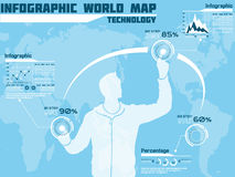 Business man modern infographic blak for web Stock Photography