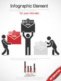 Business man modern infographic Stock Photography
