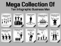 Business man modern infographic blak Royalty Free Stock Photography
