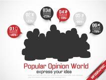 Business man modern infographic blak Stock Images