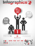 Business man modern infographic blak Stock Photo