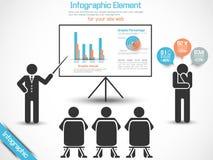 Business man modern infographic blak Stock Photography