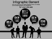 Business man modern infographic blak Royalty Free Stock Images
