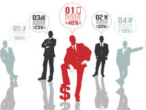 Business man modern infographic Royalty Free Stock Photography