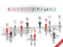Business man modern infographic Stock Photos