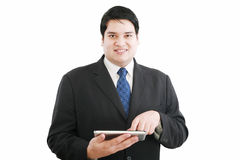 Business man with modern tablet Stock Photo