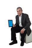 Business man with modern tablet pc Royalty Free Stock Images