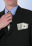 Business Man with Money Stock Photography