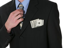 Business Man with Money royalty free stock image