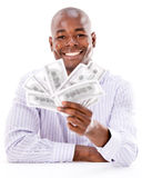 Business man with money in his hands Stock Images