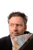 Business man with money Stock Photo