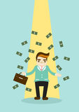Business Man With Money  illustration Royalty Free Stock Images
