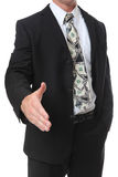 Business Man with Money Tie Royalty Free Stock Photography