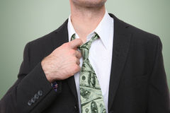 Business Man with Money Tie Stock Photography
