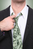 Business Man with Money Tie Royalty Free Stock Images