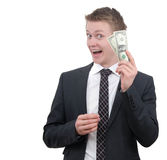Business man with money Royalty Free Stock Photos
