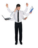 Business man multitasking Stock Images