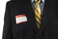 Business man with Name Tag Royalty Free Stock Photo