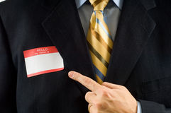 Business man with Name Tag Stock Images
